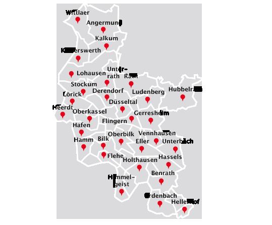 Düsseldorf Stadtteile Karte.Laubbeseitigung Entsorgung Stadtteile Düsseldorf Gelford Gmbh